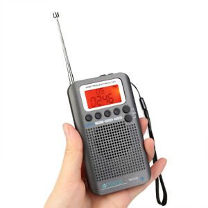 AIRBAND,CB,VHF,FM,TV,SW 1-7 BANDS Rechargeable Radio +UK Scanning Directory/Case