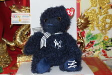 TY CLEATS THE BEANIE BUDDY BEAR NY YANKEE 2015 SGA-MWNMT-IN HAND-NICE GIFT