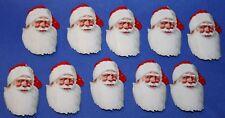 10 alte Verschlussmarken / Siegelmarken mit Weihnachtsmann Kopf 40-50er Jahre