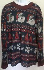 Fauxreal Christmas Sweater Tshirt XL Mens Ugly Christmas Sweater Long Sleeve NWT