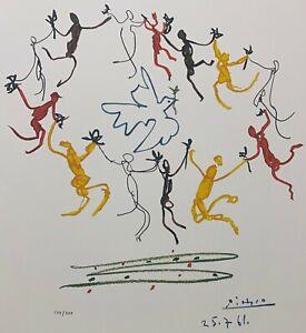 """PABLO PICASSO """"Le Rhonde"""" Limited Edition Colour Off Set Lithograph"""