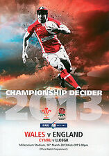 Wales v England - Six Nations 2013 Championship Decider Official Programme