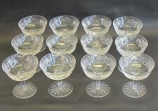 """Set of 12 Waterford Wine Champagne Glasses 4.25"""" Tall MINT  Unknown Pattern WF13"""