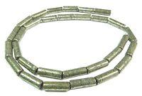 😏 Pyrit Perlen Walzen / Röhrchen ca. 13 x 4 mm Edelsteinperlen Strang pyrite 😉