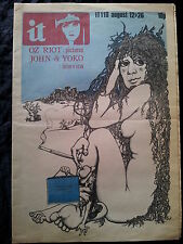 International Times IT 1971 Contre culture Underground Newspaper John Lennon Ono