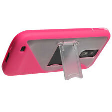 For T-Mobile Samsung Galaxy S II T989 TPU S-Line Skin Case Cover Kickstand Pink