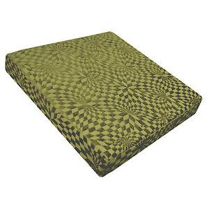 wg04t Pale Lime Green Checker Rhombus Geometric 3D Box Seat Cushion Cover