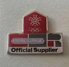 Royal LePage Official‎ Supplier  Real Estate - Calgary Sponsor Olympic Pin 1988