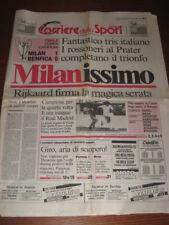 CORRIERE DELLO SPORT MILAN CAMPIONE D'EUROPA 1990