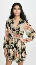 Zimmermann Espionage Jumpsuit Floral Black Size 1/Small Silk