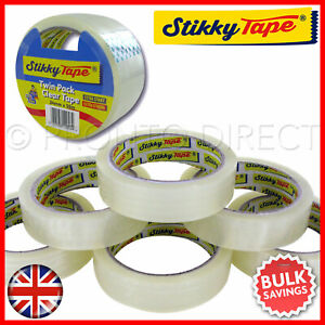 Cellotape Packing Tape Clear Sticky Sellotape Adhesive Gift Wrapping 12x Rolls