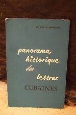 Portuondo. PANORAMA HISTORIQUE DES LETTRES CUBAINES. Littérature étrangère