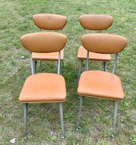 Vtg Mid Century Modern Shelby Williams GAZELLE  Dining  table kitchen Chairs