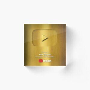 Social Media Awards, Plaque Creator play button award, youtube plaque