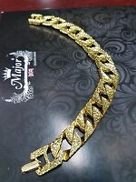 Bracelet chain Unique Men's Heavy Gold coloured link Jewelry cheap NEW handband