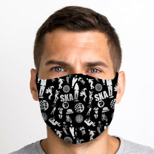 SKA Pattern One Size Reusable Washable Breathable Face Mask From UK