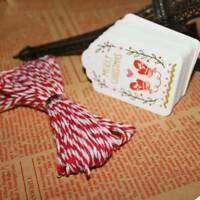50Pcs Merry Christmas Paper Tags With String DIY Craft Party Favor Decoration