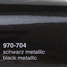 (17,09€/m²) 0,5m x 1,52m Oracal 970RA Schwarz Metallic Glanz 704 Autofolie Folie