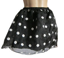 Donna Nero/Bianco A Pois Rock and Roll Net Tutu Gonna Costume