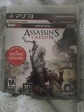 PS3 Assassin's Creed III Gamestop Edition (Sony PlayStation 3, 2012)-99