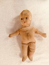 Antique Stuffed Cloth Girl Doll, 13 Inches - Free Shipping