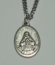 """St Frances """"Mother"""" Cabrini Holy Medal on 24"""" Chain - Immigrants and Hospitals"""
