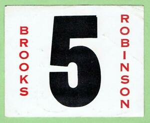 BROOKS ROBINSON Orioles ~ Vintage Decal with Number 5