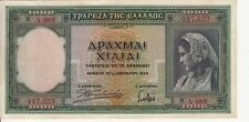 Billet de banque banknote GRECE GREECE 1000 drachmes 1939 état voir scan 088