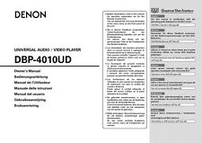 Denon DBP-4010UD Blu-ray Player Owners Manual