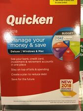 NEW Quicken 2018Manage your money and save  Deluex for WINDOWS & Mac Sealed