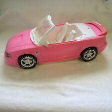 """Mattel 1999 Pink Convertible Mustang with Hide Away Top Barbie Ken 17"""""""