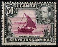 Kenia Uganda Tanganyika 1938-54 SG#144e 50c color rojizo Morado/Negro P13x12.5#D31176