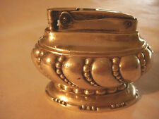 RONSON CROWN TABLE LIGHTER SILVERPLATE 1949-1954 FLAT TOP SNUFFER CAP 4 SERVICE
