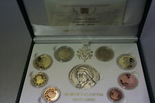 VATICANO 2010 SERIE DIVISIONALE PROOF FS PP BE 8 MONETE EURO + SILVER MEDAL AG