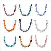 100/500Pcs 6mm Faceted Glass Crystal Jewelry Findings Rondelle Loose Beads
