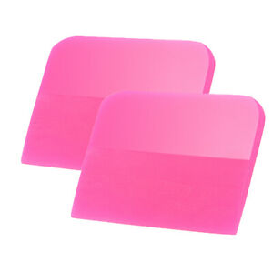 50 Pcs Pink Squeegee TPU/PPF Soft Water Wiper Blade Vinyl Car Wrapping Scraper