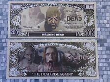 The WALKING DEAD Rise Again <> $1,000,000 One Million Dollar Bill: United States