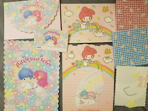 Little Twin Star My Melody And Hello Kitty Vintage Stationary Sets Collection