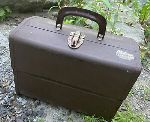 """Vintage Philson Spinner 4 Tackle Box 12"""" x 9"""" x 8"""" Loaded Fly Fishing Lures"""