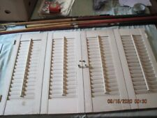 Pair Vintage Wood Pre-Owned Interior Shutters Curtain Style