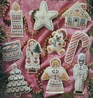 "1990 Counted Cross Stitch Pattern Booklet ""Victorian Ornaments"" Christmas 6417F"