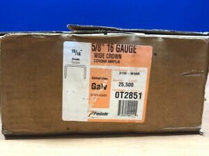 PASLODE WIDE CROWN GALVANIZED  STAPLES  5/8'' X 16'' (25,500)