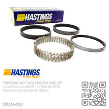 "179+0.020"" HASTINGS MOLY PISTON RINGS 179 & X2 6 CYL RED MOTOR [HOLDEN EH-HD]"