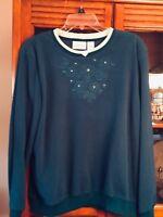 Alfred Dunner Pretty Fleece Sweatshirt L