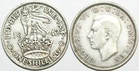 1937 to 1946 George VI Silver English Shilling Your Choice of Date / Year