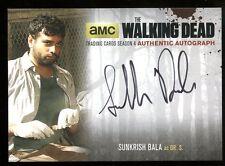 2016 Walking Dead Season 4 Part 1 Variant AUTO - Sunkrish Bala as Dr. S