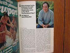 Aug. 20, 1977 TV Guide(JOE SANTOS/JADA ROWLAND/THE  ROCKFORD  FILES/ED  BRADLEY)