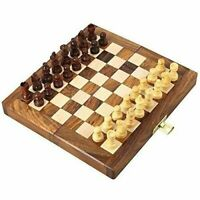 7'' Magnetic Travel Pocket Chess Set Handmade Folding Game Board Portable Gift