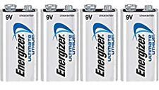 4 Energizer Ultimate Lithium 9V (9 Volt) Batteries (L522, 6LR61, 1604LC) bulk