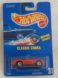 Classic Cobra Shelby 427 Black Metal Base Hot Wheels Blue Card 1995-31